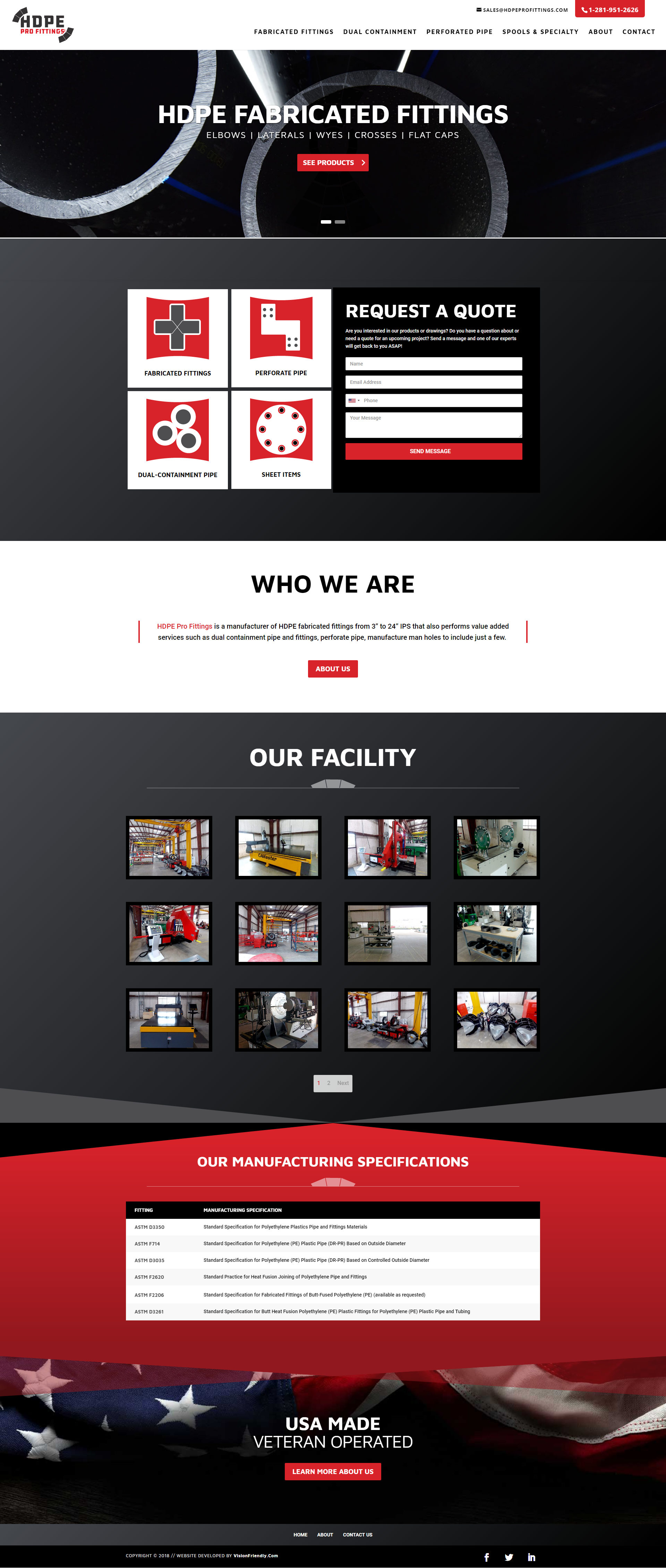 Website For Hdpe Profittings By Visionfriendly Com Fullwidth Responsive Industrial Webdesign Webdevelopment Web Design Responsive Design Website Design