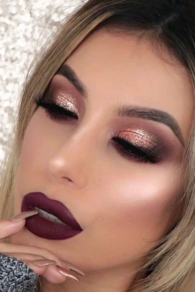 Eyeshadow Ideas: 39 Top Rose Gold Makeup Ideas To Look Like A Goddess