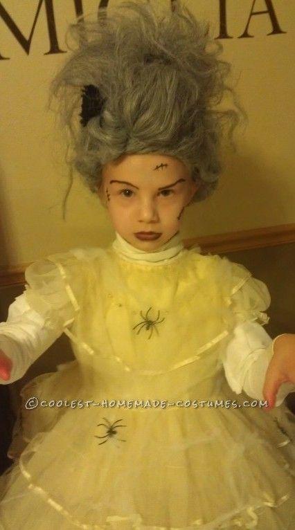 Last-Minute $5 Bride of Frankenstein Costume for a Girl ...