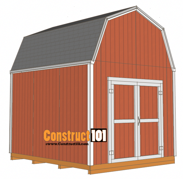 Shed Plans 10x12 Gambrel Shed Construct101 Diy Shed Plans 10x12 Shed Plans Shed Plans
