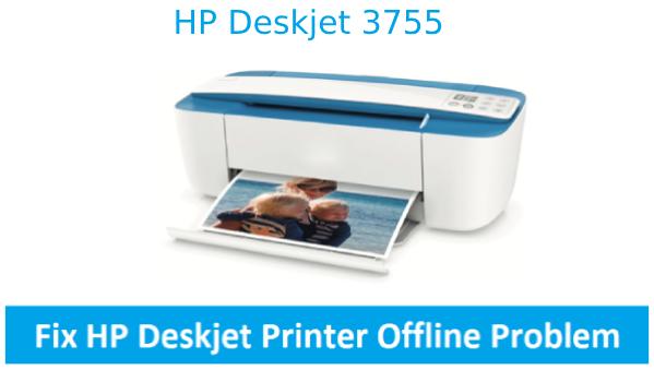 Fix hp deskjet 3655 printer offline error using the simple