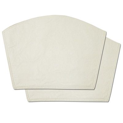 Sweet Home Collection Restaurant Quality Heavyweight Vinyl Wedge Table Placemat Color: Ivory