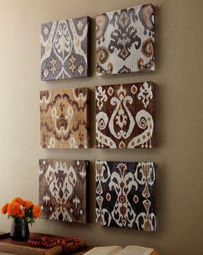 Set of Six Ikat Prints - traditional - artwork - Horchow