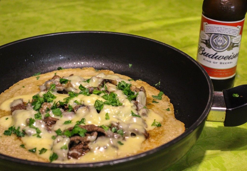 Philly Cheese Steak salty pancakes