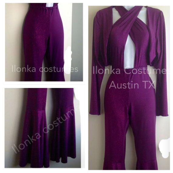 2b5106de33f Selena Quintanilla purple criss cross jumpsuit with bolero hot costume 3  Sizes Available  S - M- L