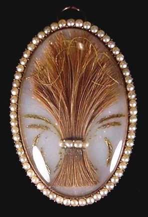Sheath of wheat brooch, with seed pearls