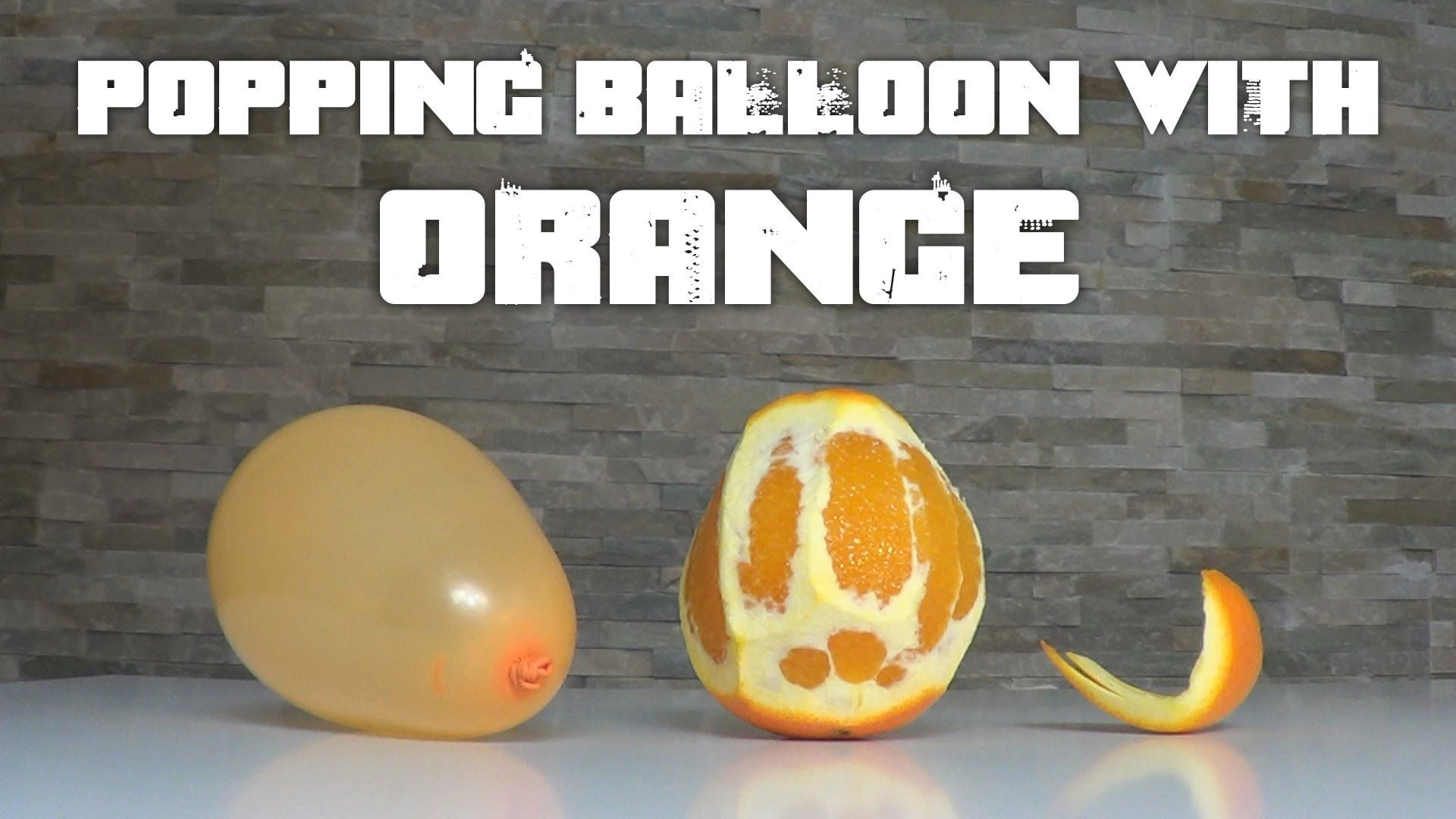 BOOM! Orange and Balloon Science Experiment Creates