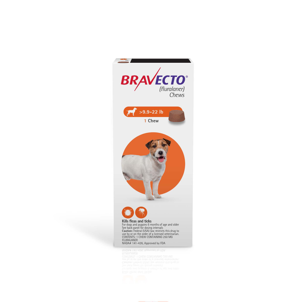 Bravecto Chews For Dogs 9 9 22 Lbs Single 12 Week Dose Petco Brown Dog Tick Petco American Dog
