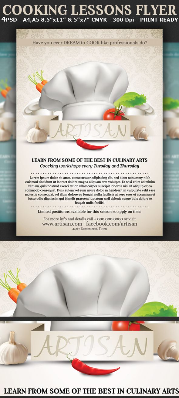 Cooking Lessons Flyer Template