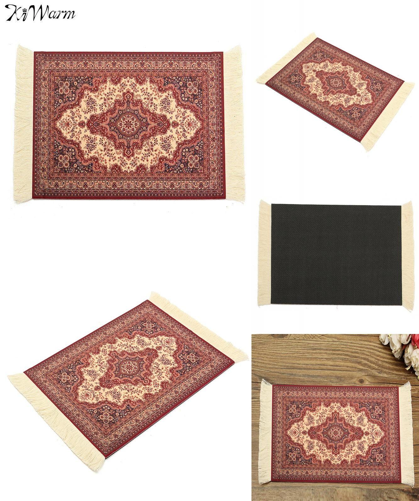 Visit To Buy Kiwarm Cotton Persian Mini Woven Rug Mat Mousepad Retro Style Carpet Pattern Mouse Pad With Fri Style Carpet Patterned Carpet Office Table Decor