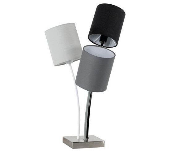 Lampe A Poser Grey 3l Gris Lampes A Poser But Meuble Canape