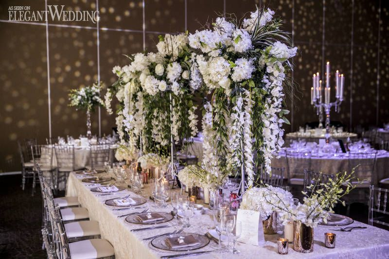 Elegant Ivory and Silver Wedding | ElegantWedding.ca & Elegant Ivory and Silver Wedding | Wedding tables White wedding ...