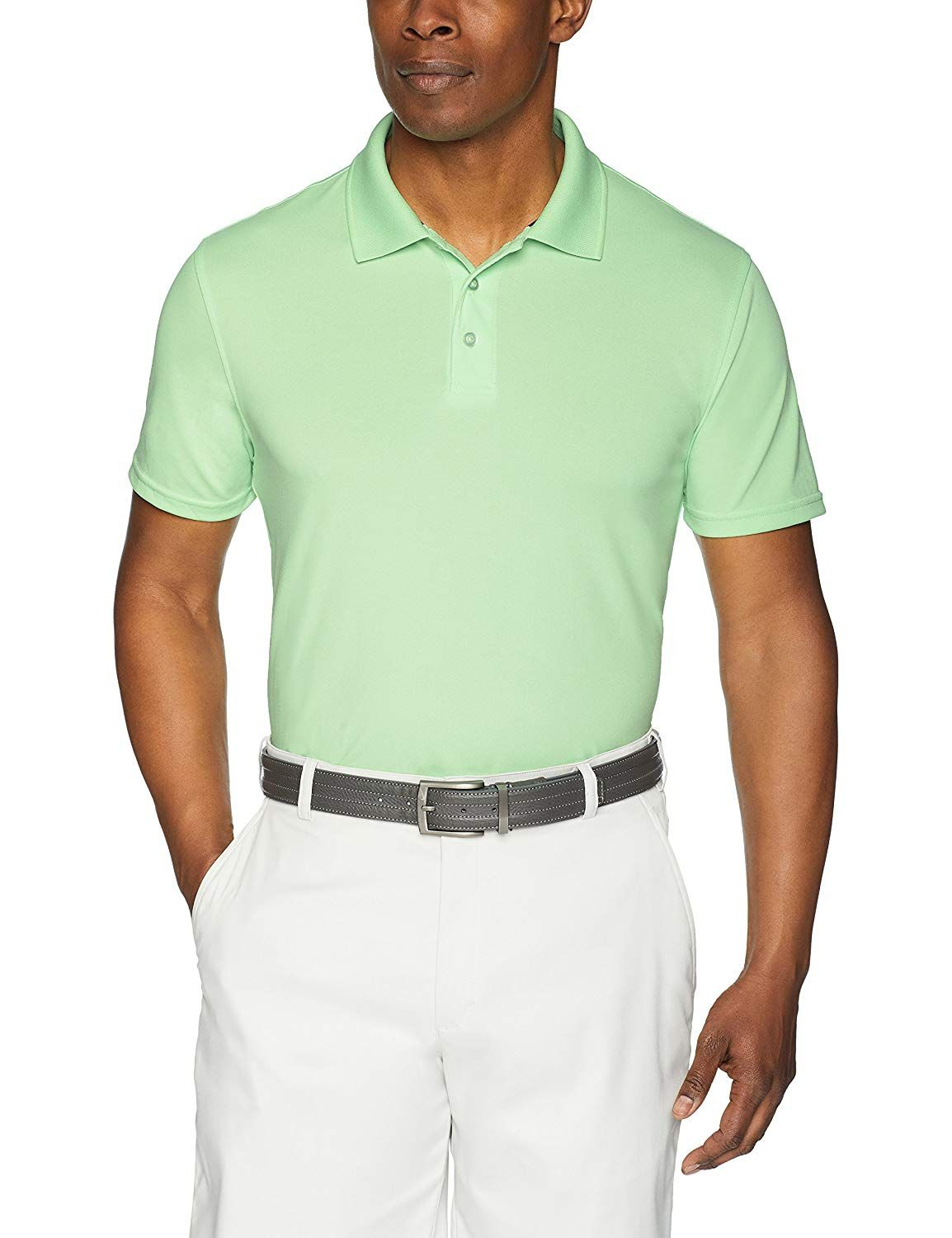 e85d6da22 Amazon.com: Amazon Essentials Men's Standard Slim-Fit Quick-Dry Golf Polo  Shirt, Coral, Medium: Clothing