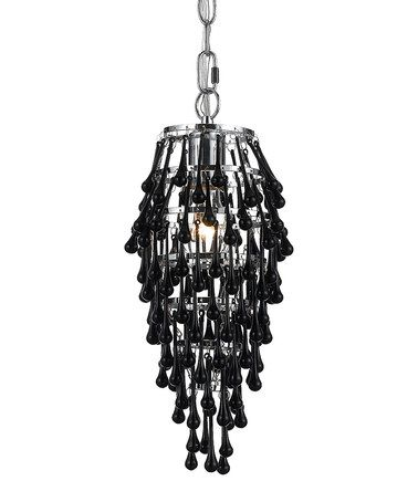 Take a look at this chrome black crystal chandelier by af take a look at this chrome black crystal chandelier by af lighting on zulily aloadofball Gallery