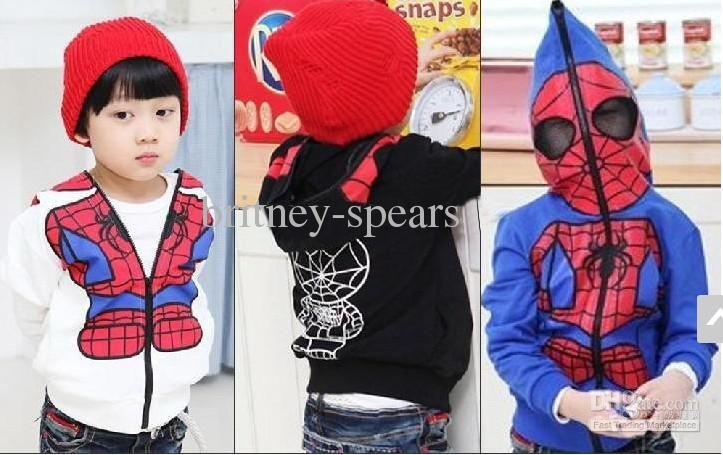 Wholesale kids boys hoodies spider man sweatshirts 3 colors boys jackets children coat fgr, Free shipping, $10.87/Piece | DHgate