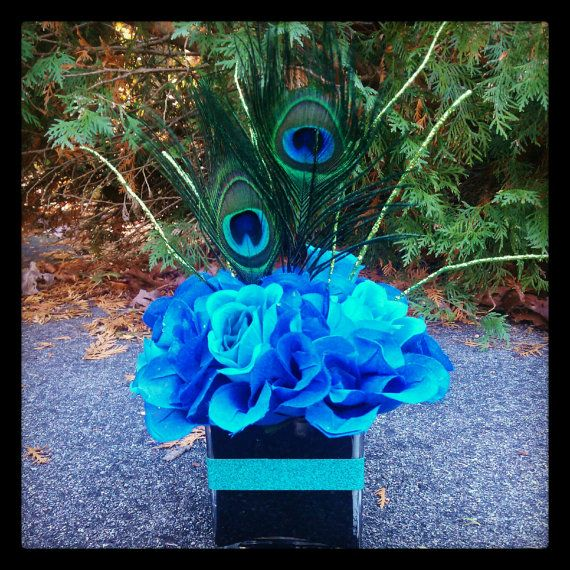 Peacock Wedding Ideas Etsy: Peacock Centerpiece By KreativeCreations11 On Etsy, $15.99