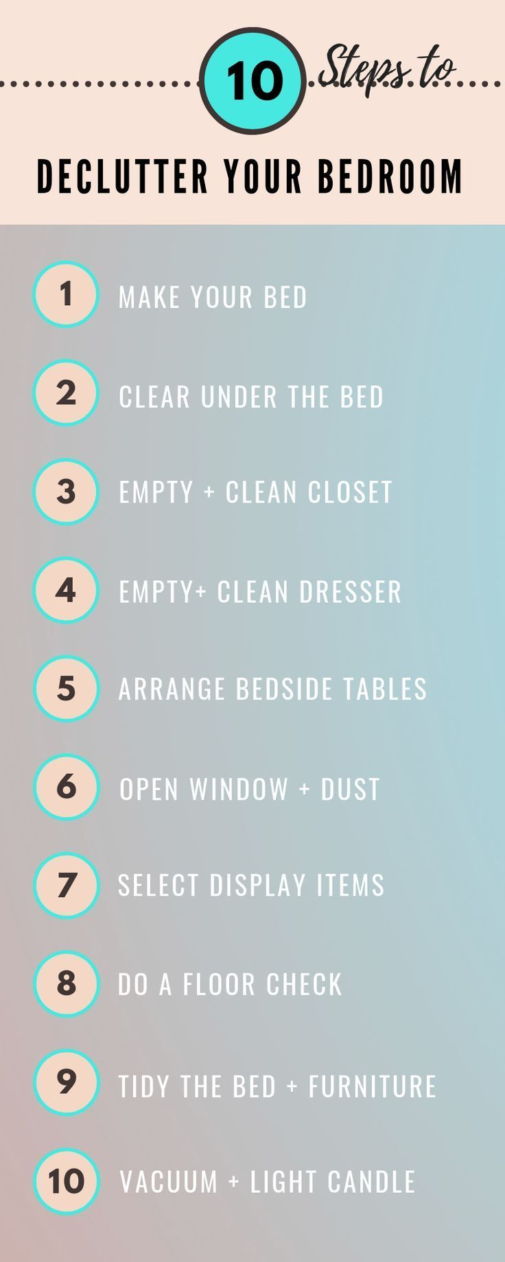 The best way to declutter your bedroom in 10 steps Youll see the very best bedroom decluttering tips