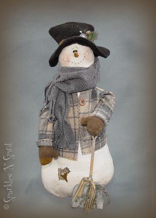 *SNOWMAN ~ cloth doll pattern