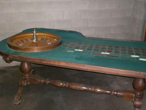 Antique Wood H C Evans Co Roulette Table 43 X 96 Ornate Casino L K How To Antique Wood Roulette Table Table