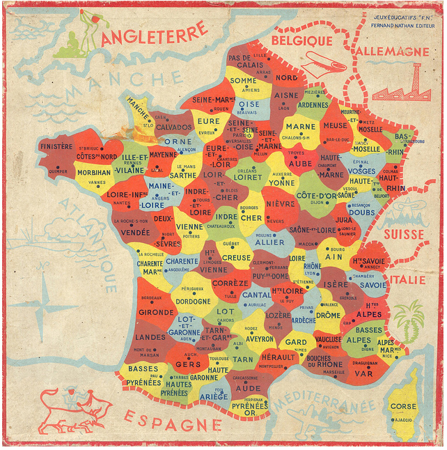 Map Of France Departments.France Department Map Maps Illustrations France Map Map
