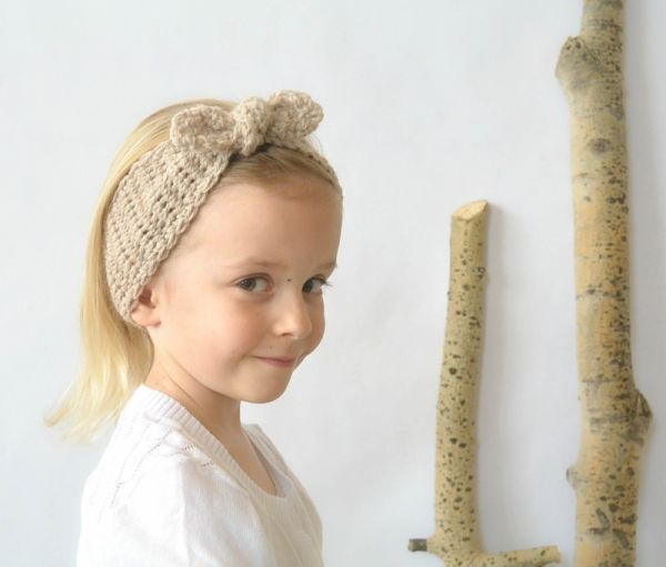 Download Naturally Chic Tie Up Headband Crochet Pattern Free