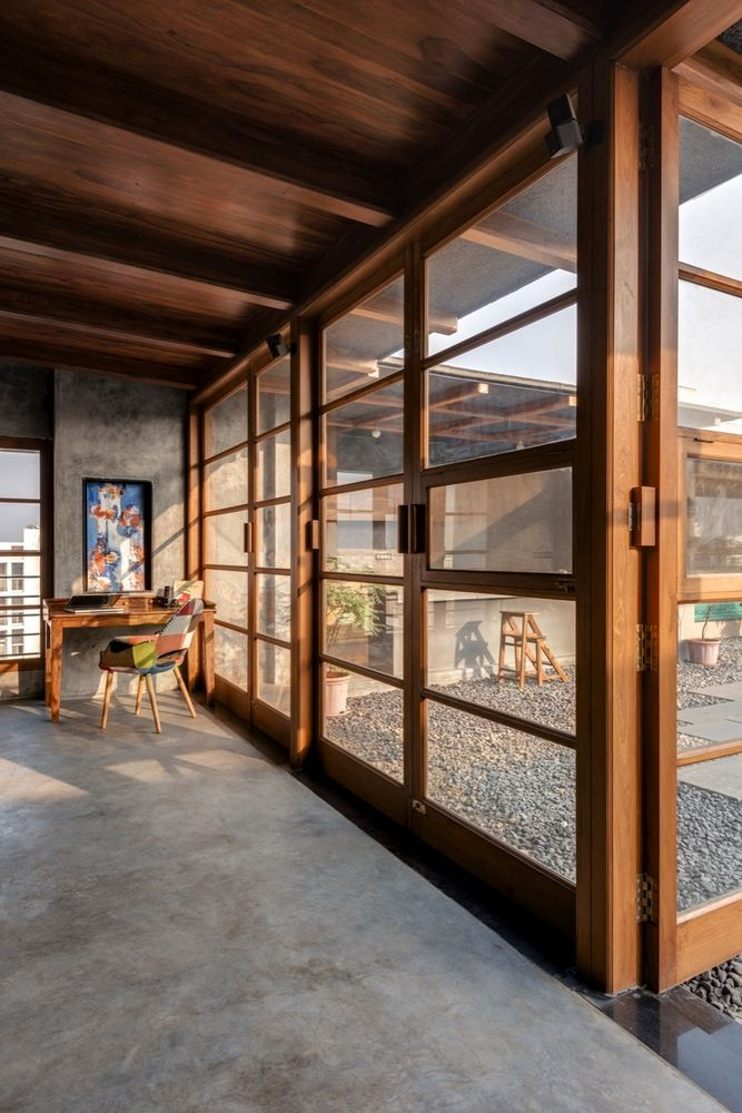 Gallery Of Veranda On A Roof Studio Course 8 Architecture Concrete Interiors House Design