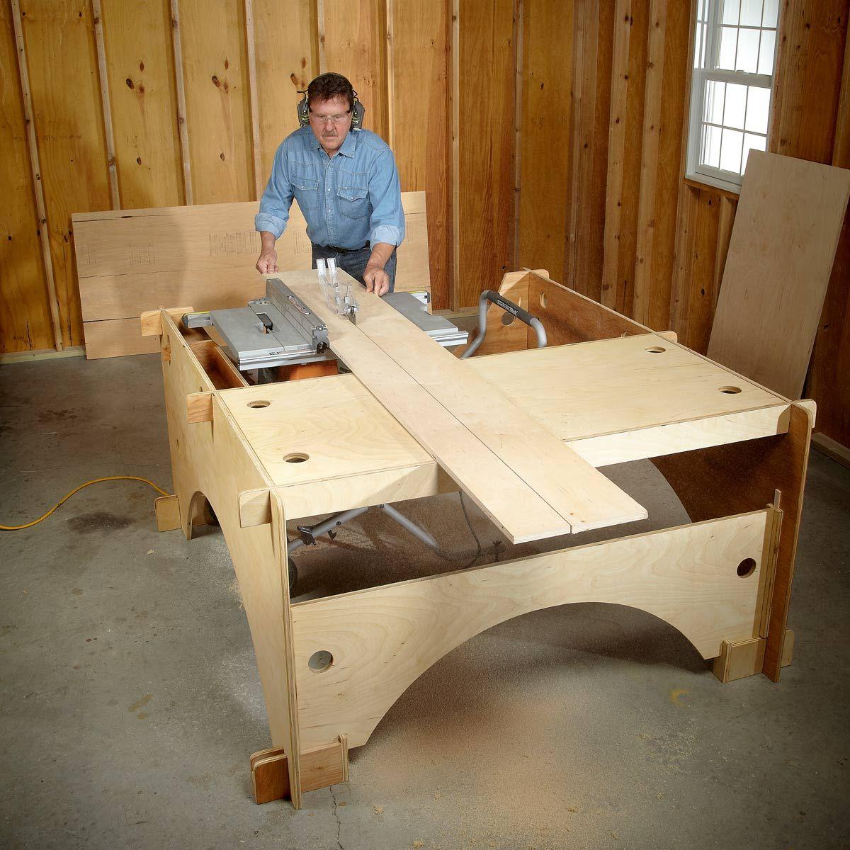 DIY Table Saw Table Diy table saw, Table saw