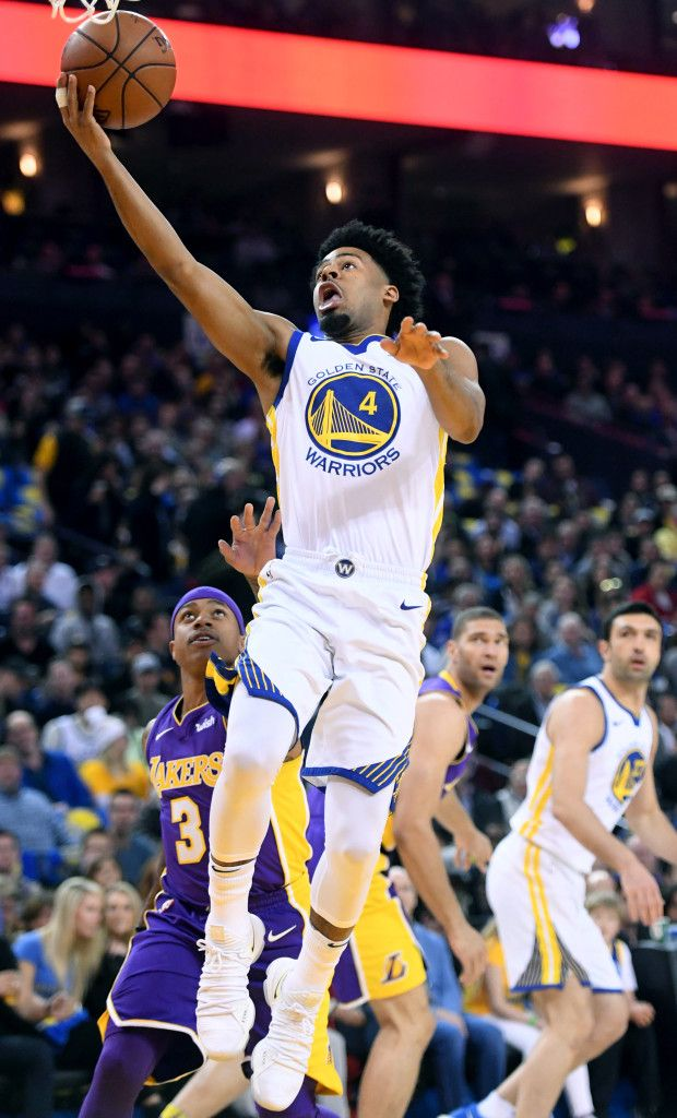 Quinn Cook Of The Golden State Warriors Stands During The National Warriors Standing Golden State Warriors Quinn