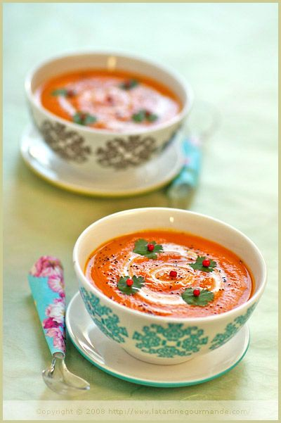 Carrot, Sweet Potato and Coconut Soup