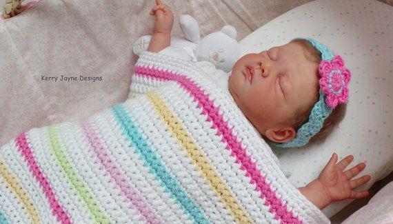 Beginners Baby Blanket Pattern Easy Crochet Blanket Pattern Photo