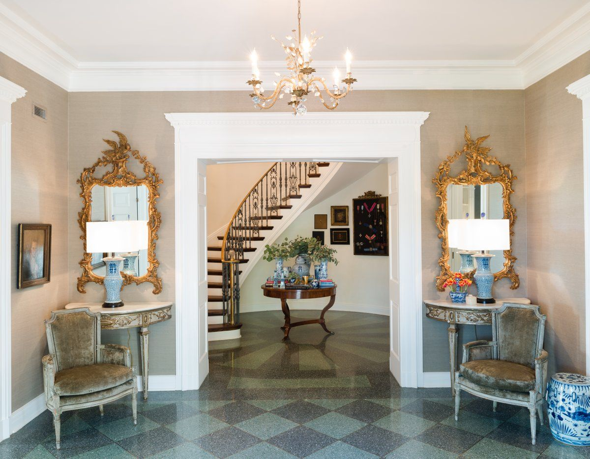 See More Of M Interiors S San Antonio Elegance On 1stdibs Interior Terrazzo Flooring Interior Design