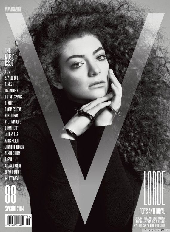 Lorde's Hair Is AMAZING on the cover of V Magazine's Music Issue #curls #curlyhair