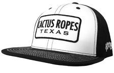 Hooey Hats Cactus Ropes Texas trucker hat CR017 Black and White