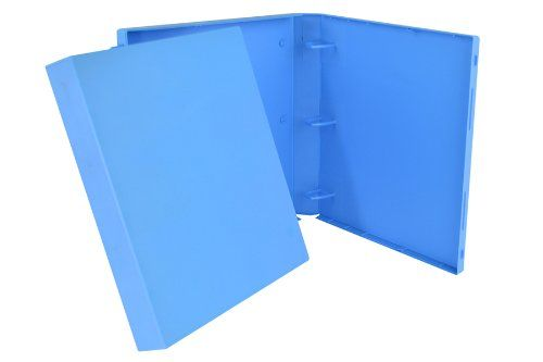 3 Ring Neon Case Binder - 1.5 Inches (Neon Blue) UniKeep http://amzn.to/1HkcsDS #neon #blue #amazonprime
