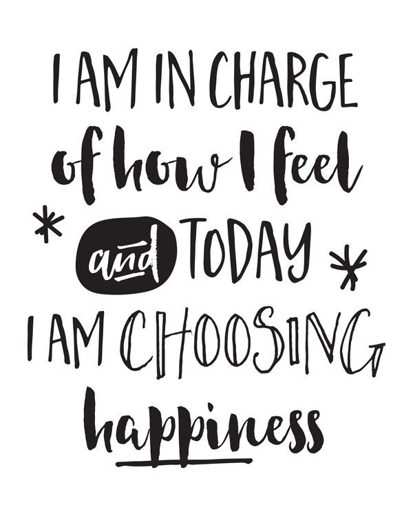 Printable Art Affirmation Today I Am Choosing Happiness Stunning Quote For Today About Happiness