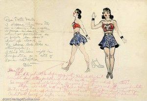 Original Wonder Woman costume sketch