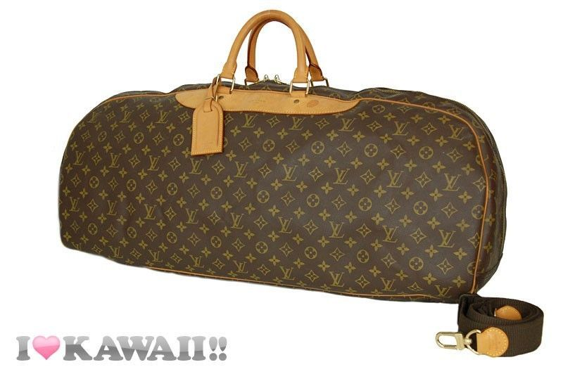 Auth Louis Vuitton Monogram Sac Plein Air Long Boston Bag Duffle Travel Free Shi #LouisVuitton #BostonBag