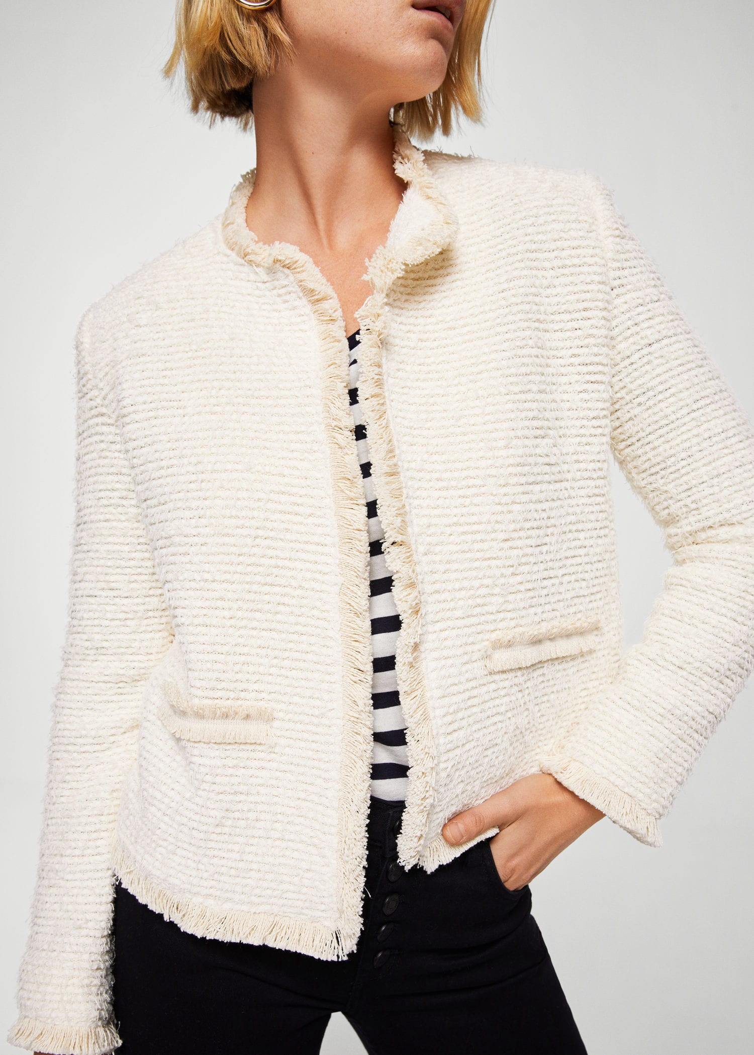 Mango Trim Tweed Jacket - Women   XXS   Products in 2018   Pinterest ... 8145ef0f1c72