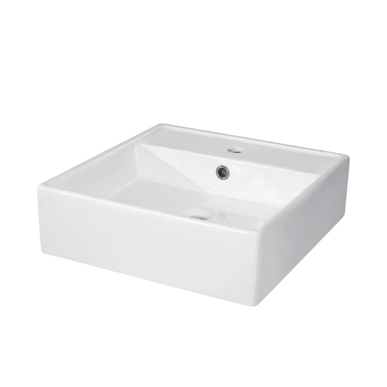 Vasque A Poser Ceramique L 46 X P 46 Cm Blanc Edge Leroy Merlin Vasque A Poser Vasque Plan Vasque