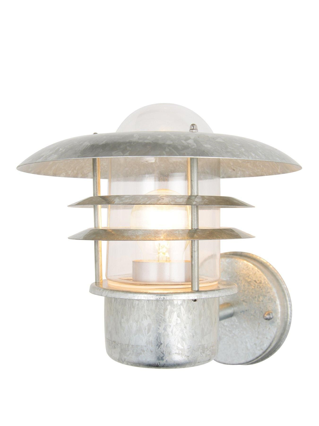 This sturdy and stylish Zinc Vulcan Tiered Stainless Steel Lantern is ideal  for lighting up outdoor spaces. This wall lantern light features louvered  shades ... 3da784869