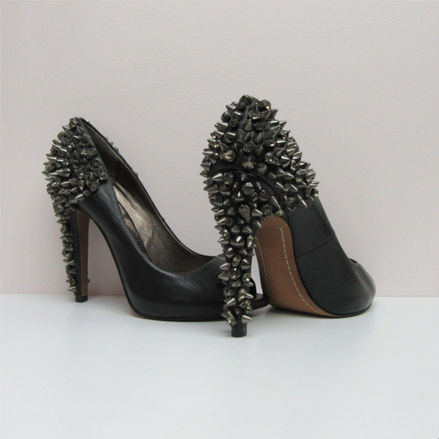 16f5a3a4dd347a Sam edelman black leather lorissa peep toe pump spike jeweled heel size jpg  1800x1800 Sam edelman