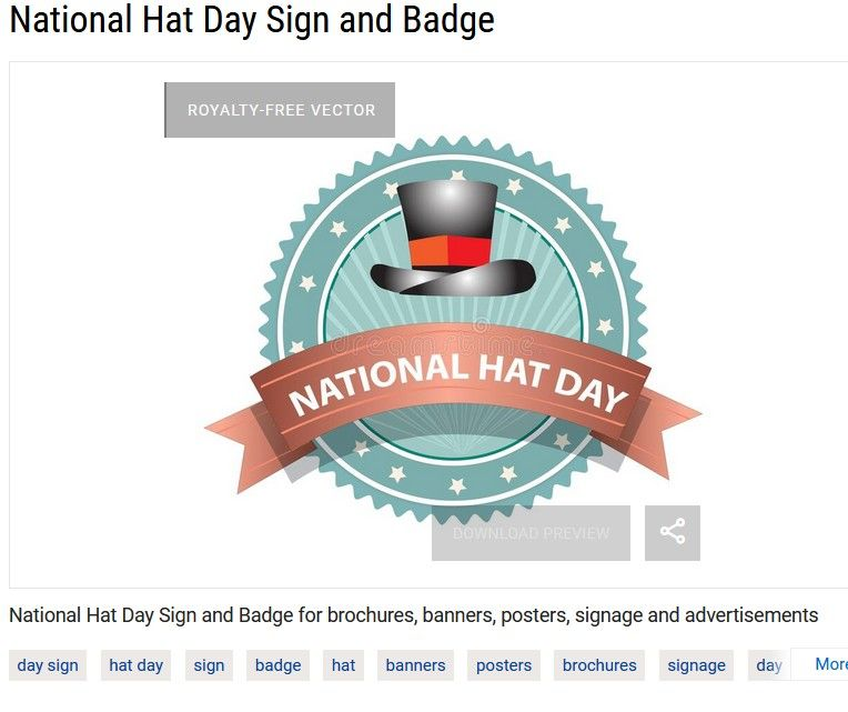 National Hat Day Sign In 2021 Badge Hat Day Signage