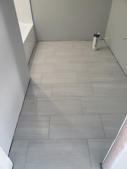 Home Decorators Collection Nova Falls Gray 12 In X 24 In Porcelain Floor And Wall Tile 15 6 In 2020 Large Tile Bathroom Grey Kitchen Floor Gray Tile Bathroom Floor