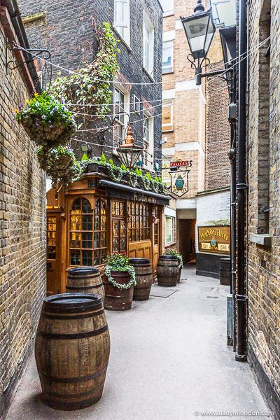 A secret pub down a skinny alley in London's Clerkenwell. This pub has featured as a London filming location for Guy Ritchie movies.   #london #pubs