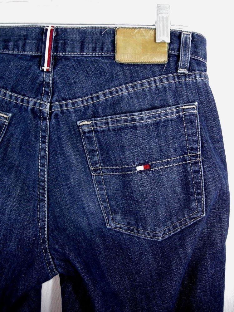 d1350011 Womens 6 Tommy Hilfiger Jeans VTG Flag 90s Boot Cut Medium Wash Flat Front  Denim #TommyHilfiger #BootCut