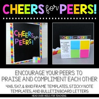 Cheers For Peers! Build Community at Your School! {Templates, Trackers, Letters} #employeeappreciationideas