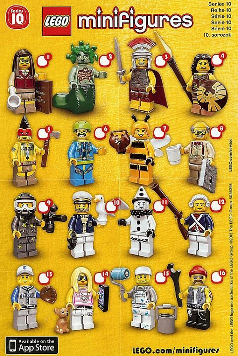 LEGO Minifigures Series 10 & Mr. Gold Found! Description from ...