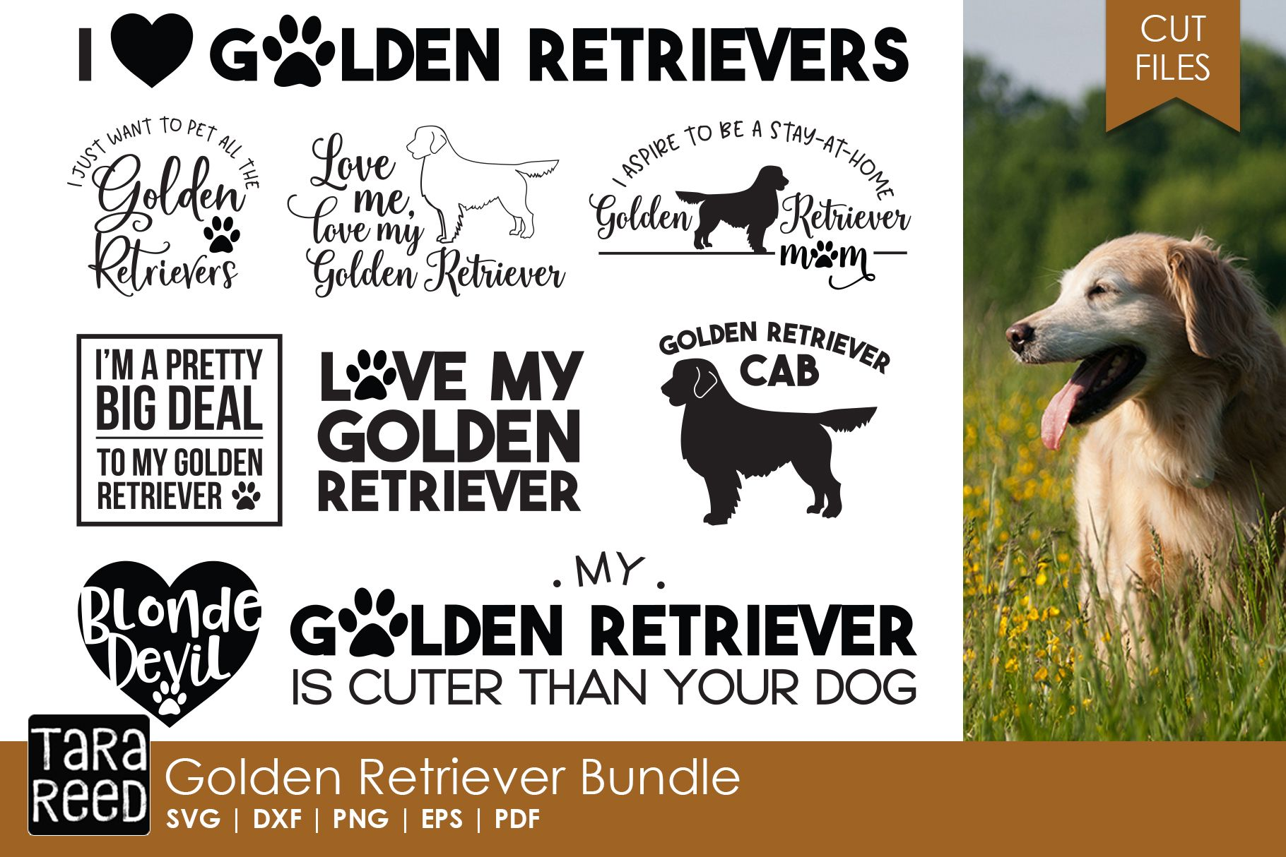 46+ I Love My Golden Retriever – Svg File Crafter Files