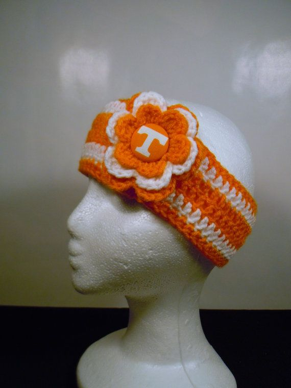 Tennessee Vols Earwarmer Headband Crochet by OliviaRyanbyDGuess ...