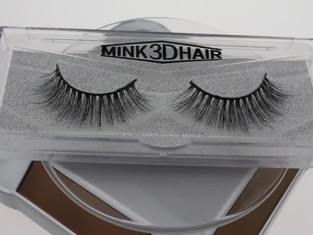 ec48987761d OEM factory price own brand 100% 3d mink eyelashes #3dminklashes  #genieeyelashmink #qingdaominklashes